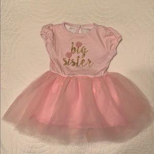 Mudpie Big sister tulle pink dress